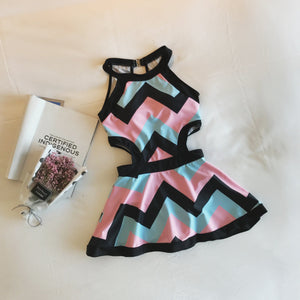 Colorful Stripe One-Piece Swimsuit SP179612