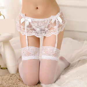 5 Colors Sexy Lace Garter Belt Set SP166255