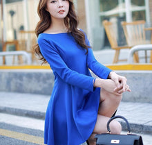 Load image into Gallery viewer, S-XL 4 Colors Simple Long Sleeve Dress SP152637 - SpreePicky  - 4
