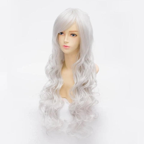 Cosplay Angel Sanctuary Raziel Silve White Long Curly Wig SP141210 - SpreePicky  - 3