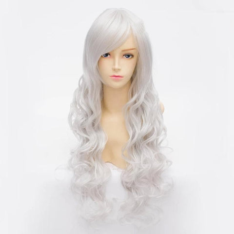 Cosplay Angel Sanctuary Raziel Silve White Long Curly Wig SP141210 - SpreePicky  - 2
