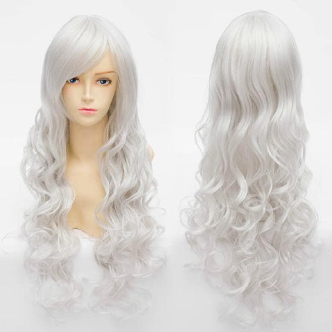 Cosplay Angel Sanctuary Raziel Silve White Long Curly Wig SP141210 - SpreePicky  - 1