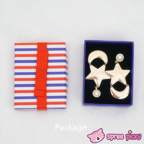 Cosplay Anime Sailor Moon Crystal Moon and Star Earring One Pair SP141001 - SpreePicky  - 4