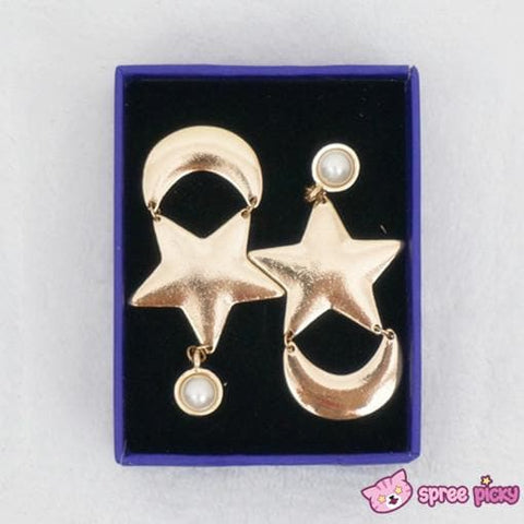 Cosplay Anime Sailor Moon Crystal Moon and Star Earring One Pair SP141001 - SpreePicky  - 1