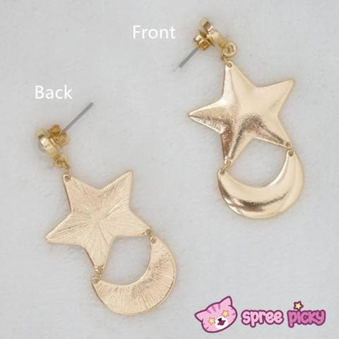 Cosplay Anime Sailor Moon Crystal Moon and Star Earring One Pair SP141001 - SpreePicky  - 2