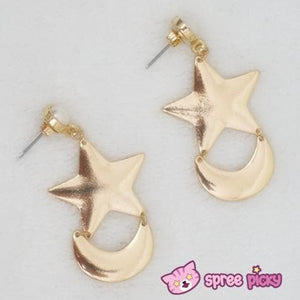 Cosplay Anime Sailor Moon Crystal Moon and Star Earring One Pair SP141001 - SpreePicky  - 3