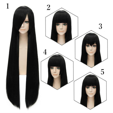 Cosplay Black Long Straight Wig 5 Styles SP152550