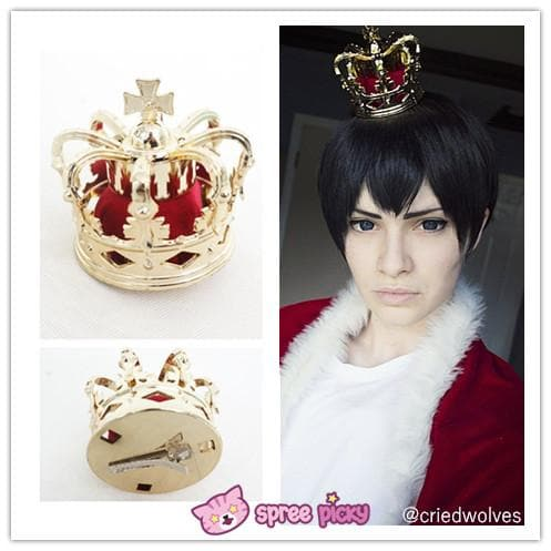 Cosplay Chu-2 byo demo KOI ga Dekomori Sanae Crown Hair Cilp SP151676 - SpreePicky  - 1