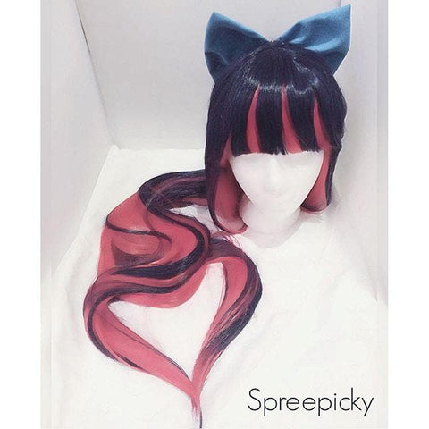 2 Colors Cosplay Costume Panty & Stocking Navy/ Royal Blue Wig 100 cm SP151650 - SpreePicky  - 5