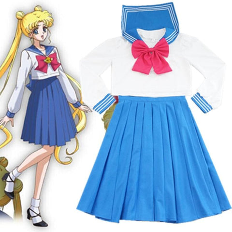 [Sailor Moon] Tsukino Usagi/Mizuno Ami Sailor Seifuku Uniform Set SP151723 - SpreePicky  - 1