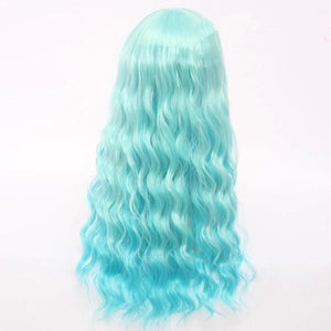 Cosplay Lolita Blue Green Curly Wig SP141204 - SpreePicky  - 2