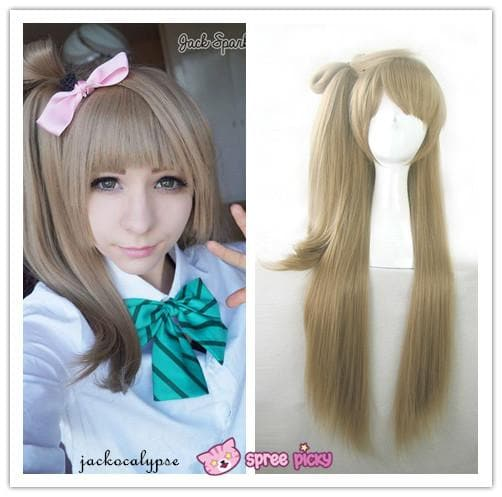 [Cosplay] [LoveLive!] Minami Kotori Long Linen Wig With Tail SP141607 - SpreePicky  - 1