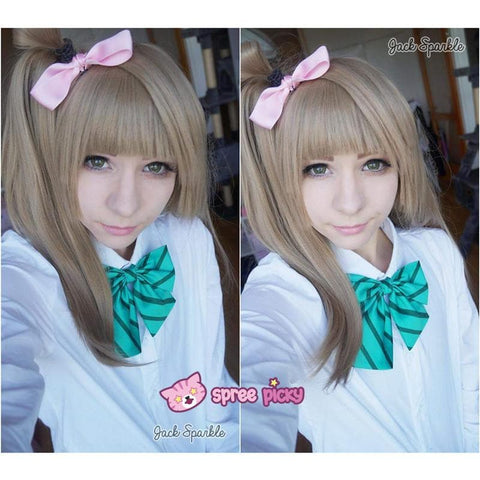 [Cosplay] [LoveLive!] Minami Kotori Long Linen Wig With Tail SP141607 - SpreePicky  - 2