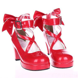 EU 33 - 52 [Cosplay Madoka] Lolita Princess Bow Platform High Heel Shoes SP130232 - SpreePicky  - 3
