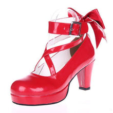 Load image into Gallery viewer, EU 33 - 52 [Cosplay Madoka] Lolita Princess Bow Platform High Heel Shoes SP130232 - SpreePicky  - 5