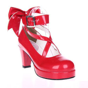 EU 33 - 52 [Cosplay Madoka] Lolita Princess Bow Platform High Heel Shoes SP130232 - SpreePicky  - 6