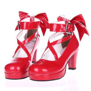 EU 33 - 52 [Cosplay Madoka] Lolita Princess Bow Platform High Heel Shoes SP130232 - SpreePicky  - 4