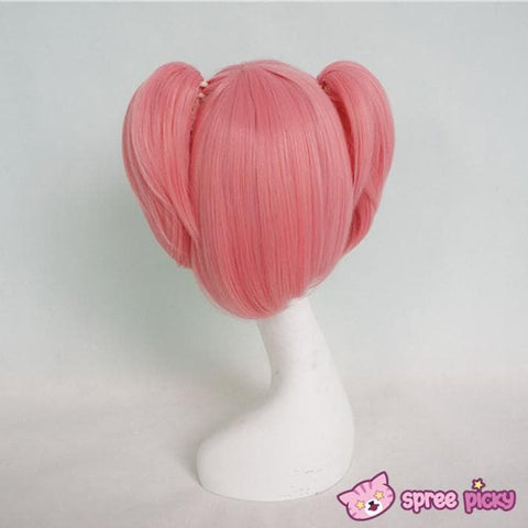 Cosplay Puella Magi Madoka Magica Pink Wig with 2 Pony Tails SP130007 - SpreePicky  - 3