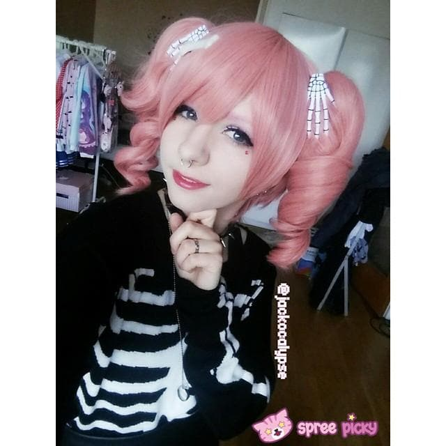 Cosplay Roromiya Karuta Lolita Pink Wig With Two Pony Tails Sp141235 - SpreePicky  - 1
