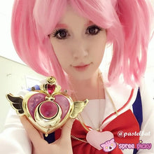 Load image into Gallery viewer, Cosplay Sailor Moon Chibi Moon Chibi Usa Hot Pink Wig With Pony Tails SP141460 - SpreePicky  - 2