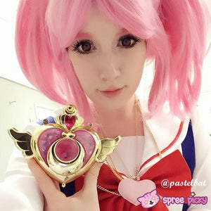 Cosplay Sailor Moon Chibi Moon Chibi Usa Hot Pink Wig With Pony Tails SP141460 - SpreePicky  - 2