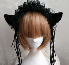Load image into Gallery viewer, Cosplay Small Bells Lace Cat Ears Hair Band Hook SP141225