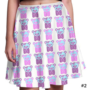 Creepy Cute Skeleton Teddy Bear Skirt SP1710481