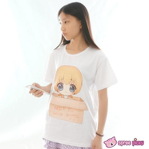 XS-3XL Custom Made [Attack On Titan][ Chibi Armin Free to Good Home] Artwork Printing T-shirt SP152010 - SpreePicky  - 3