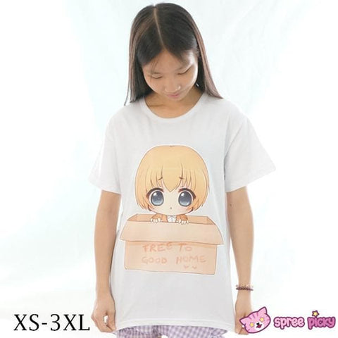 XS-3XL [Catnapy Design] Attack On Titan Chibi Armin Free to Good Home T-shirt SP152010