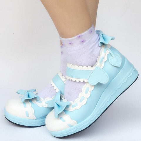 Custom Made Blue Heart and Bow Shoes SP167656