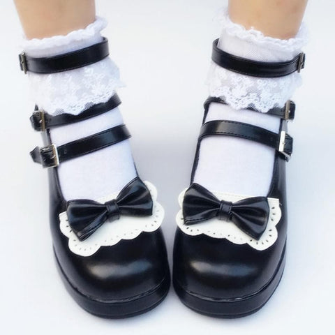 Custom Made Chocolate Bow Shoes SP167768
