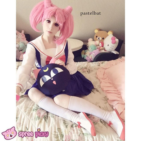 [Costume Made]Sailor Moon Chibi Moon Chibi Usa High School Uniform Cosplay Costume Set SP141616