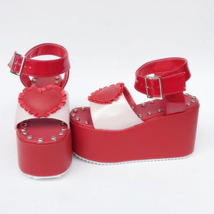 Custom Made Dreaming Heart Red Shoes SP167882