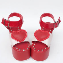 Load image into Gallery viewer, Custom Made Dreaming Heart Red Shoes SP167882