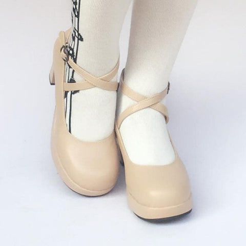 Custom Made Elegant Beige High Heels Shoes SP168137