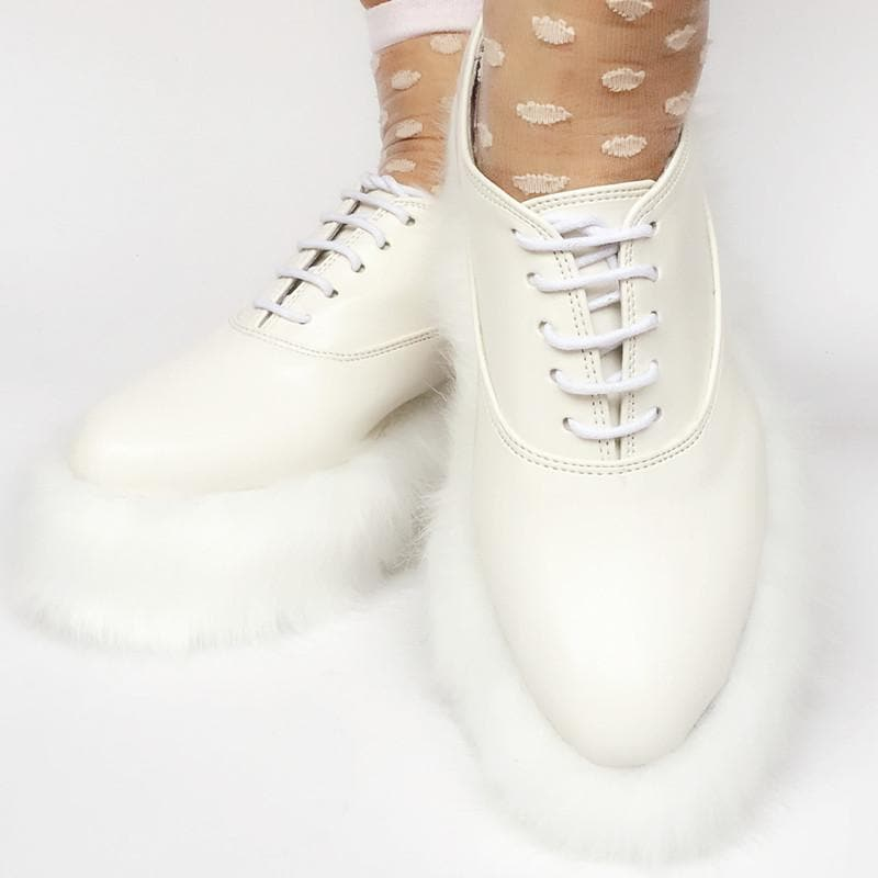 Custom Made Elegant Fluffy Fur Shoes SP167987