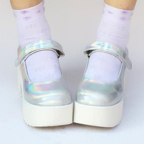 Custom Made Hologram Laser Platform Shoes SP168086
