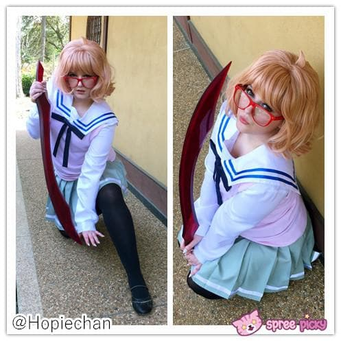 [境界の彼方] Kyokai no Kanata Kuriyama Mirai Sailor School Uniform Top and Skirt Set SP151634 - SpreePicky  - 1