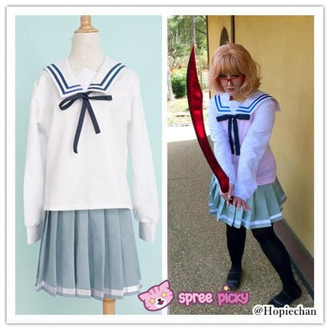 [境界の彼方] Kyokai no Kanata Kuriyama Mirai Sailor School Uniform Top and Skirt Set SP151634 - SpreePicky  - 3