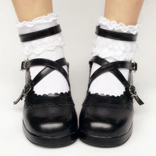 Load image into Gallery viewer, Custom Made Lolita Black Detachable Bow Shoes SP167935
