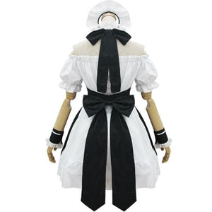 [Custom Made] Lolita Black Housemaid Cosplay Costume SP153686 - SpreePicky  - 5