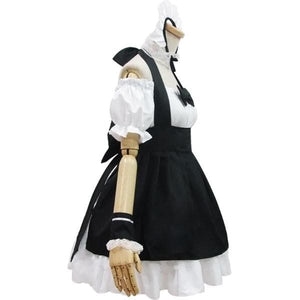 [Custom Made] Lolita Black Housemaid Cosplay Costume SP153686 - SpreePicky  - 4