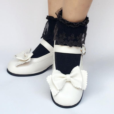 Custom Made Lolita Elegant Bow Shoes SP168082
