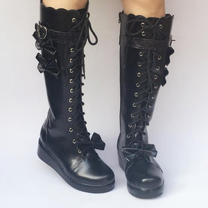 Custom Made Lolita Knee Boots Shoes SP168139