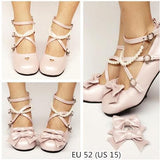Custom Made Lolita Little Heart Cut Out Bow Shoes SP167702