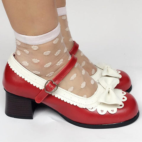 Custom Made Lolita Wine Hit White Shoes SP168070