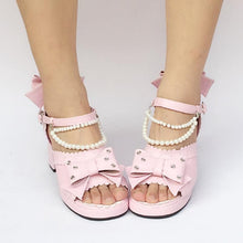 Load image into Gallery viewer, Custom Made Pink Mermaid Princess Shoes SP168136