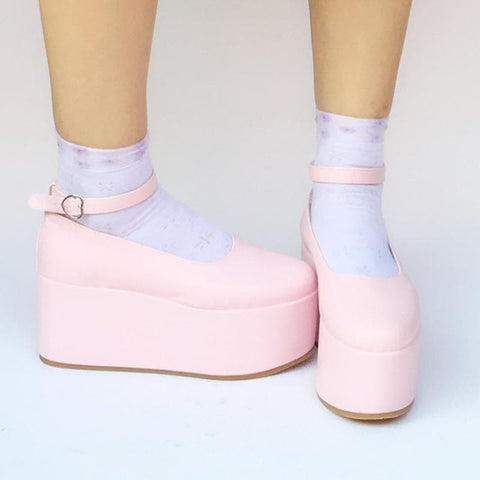Custom Made Pinky Baby Doll Platform Shoes SP168134