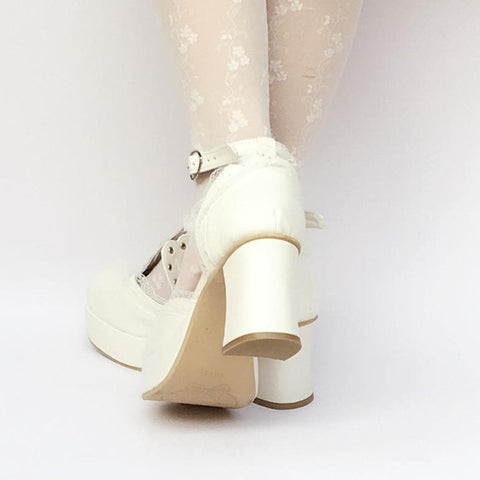 Custom Made White Crown Princess Platform Shoes SP168283