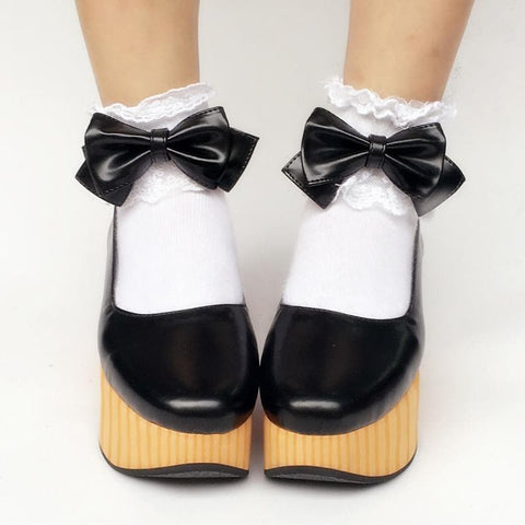 Custom Made Wooden Elegant Bows Shoes SP167862